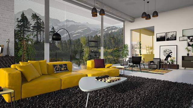 koberec v obýváku